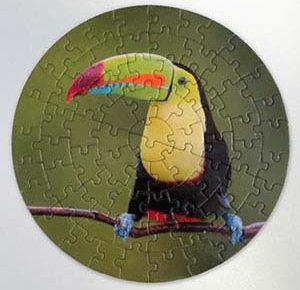 personalizare puzzle rotund cu poza ta