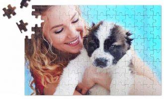 puzzle magnetic inscriptionat cu imaginea ta