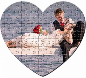 puzzle forma inima , magnetic imprimat cu poza dv