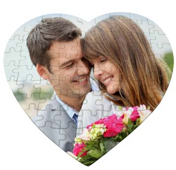 puzzel in forma de inima imprimat cu imaginea ta